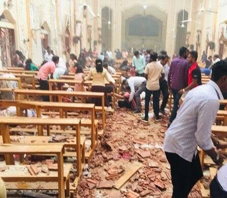 انفجار مرگبار سریلانکا 3 - تصاویر/ وقوع ۶ انفجار مرگبار در سریلانکا