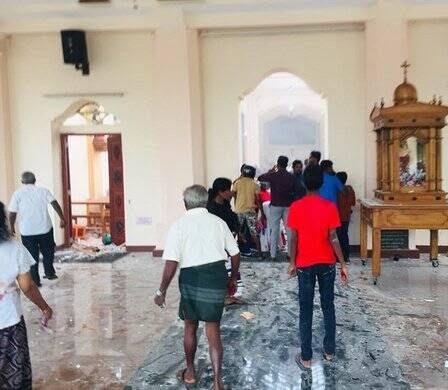 انفجار مرگبار سریلانکا 4 - تصاویر/ وقوع ۶ انفجار مرگبار در سریلانکا