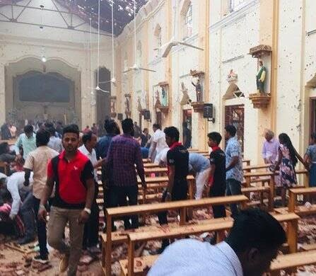 انفجار مرگبار سریلانکا 5 - تصاویر/ وقوع ۶ انفجار مرگبار در سریلانکا