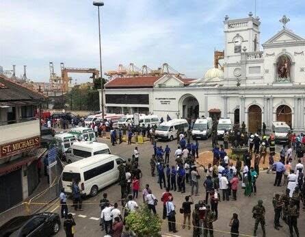 انفجار مرگبار سریلانکا 6 - تصاویر/ وقوع ۶ انفجار مرگبار در سریلانکا