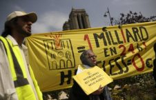 بی خانمان 226x145 - تجمع هزاران بیخانمان فرانسوی مقابل نوتردام