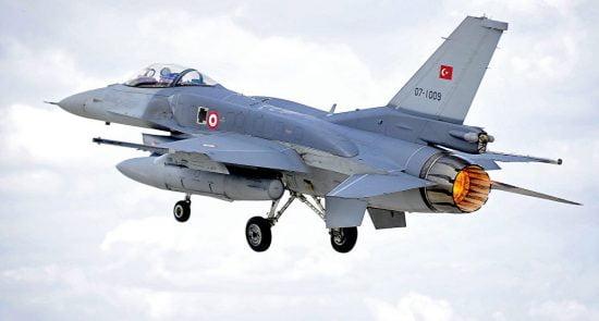 ترکیه طیاره 550x295 - حمله طیارات جنگی ترکیه بالای مخفیگاههای گروه پکک