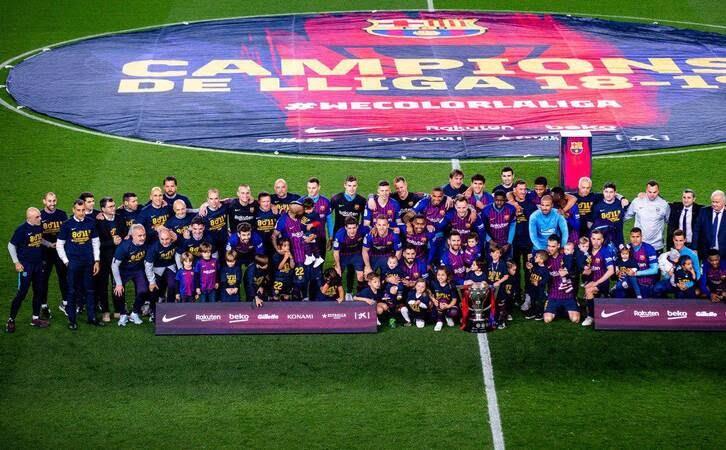 جشن قهرمانی بارسلونا 5 - تصاویر/ جشن قهرمانی بارسلونا