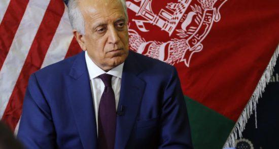 زلمی خلیلزاد 550x295 - تلاش نماینده خاص ایالات متحده برای کاهش خشونت ها در افغانستان