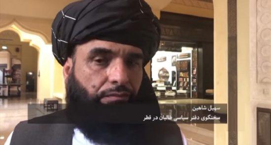 سهیل شاهین 550x295 - عیدی طالبان به حکومت؛ سهیل شاهین: زندانیان باقیمانده را رها می کنیم