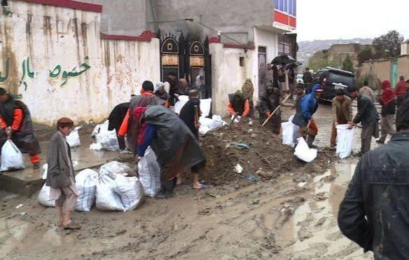 طغیان رود کابل 1 - تصاویر/ طغیان رودخانه ها در کابل