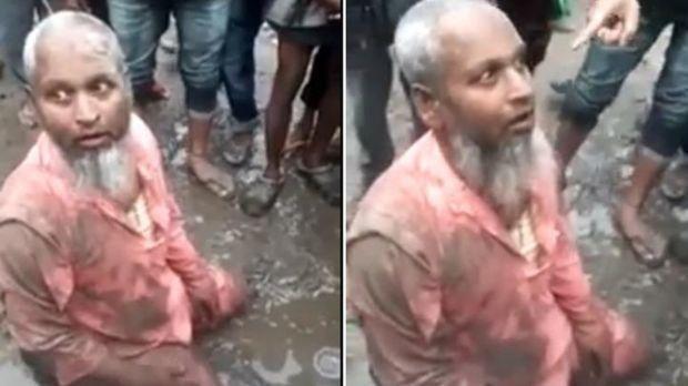 هندی - خوراندن اجباری گوشت خوک به پیرمرد مسلمان هندی + عکس