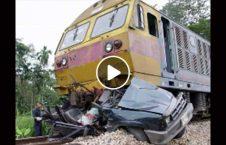ویدیو برخورد شدید موتر با قطار 226x145 - ویدیو/ برخورد شدید موتر با قطار