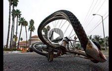 ویدیو تصادف بایسکل موتر 226x145 - ویدیو/ تصادف شدید بایسکل ران با موتر