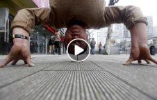 ویدیو شگفت ورزشکار سرک 226x145 - ویدیو/ حرکت شگفت انگیز مرد ورزشکار در سرک