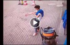 ویدیو نجات جوان مرگ وحشتناک 226x145 - ویدیو/ نجات معجزه آسای پسرجوان از مرگ وحشتناک
