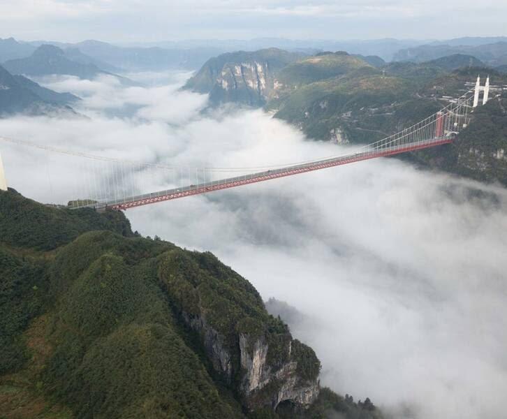 پل چین - تصاویر/ بلندترین و طولانیترین پل جهان