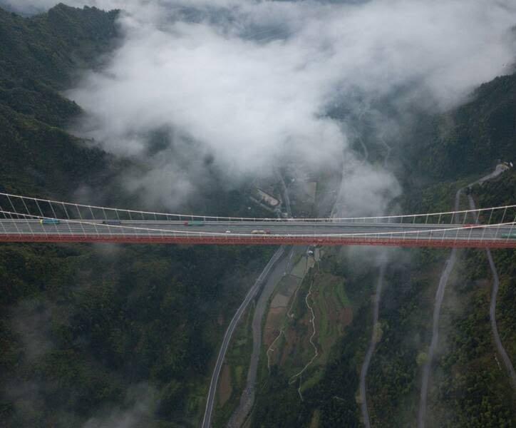 پل چین4 - تصاویر/ بلندترین و طولانیترین پل جهان