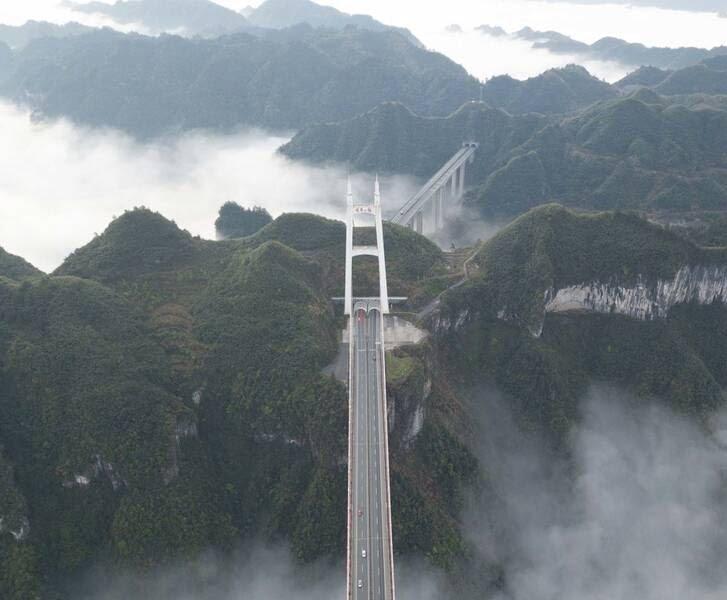 پل چین6 - تصاویر/ بلندترین و طولانیترین پل جهان