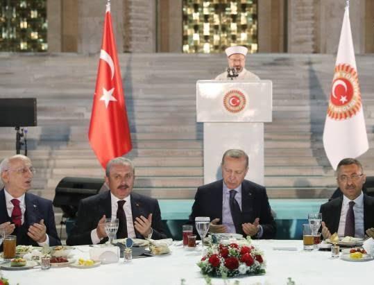 اردوغان3 - تصاویر/ مراسم افطاری تشریفاتی مقامات در ترکیه