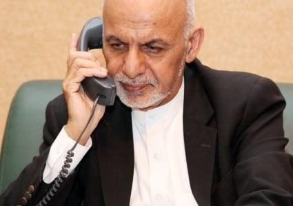 اشرف غنی 3 - گفتگوی تلیفونی رییس جمهور غنی با وزیر امور خارجه چین