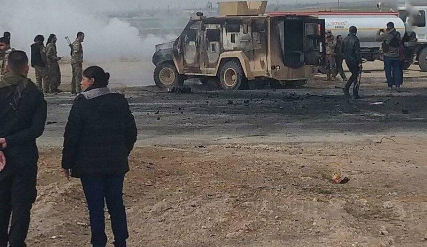 امریکا - حمله داعش به موتر نظامیان امریکایی در سوریه