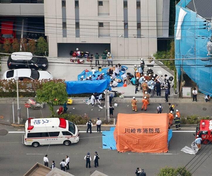 جاپان چاقو 3 - تصاویر/ حمله ای خونین به جمعی از کودکان در جاپان