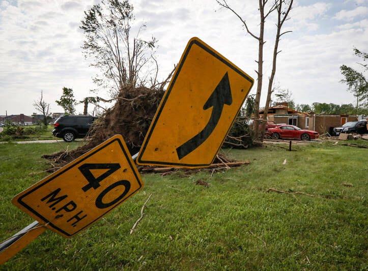 طوفان اوهایو امریکا 1 - تصاویر/ اوهایو امریکا غرق در تاریکی شد