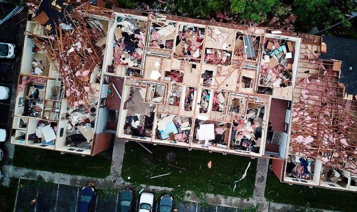 طوفان اوهایو امریکا 4 - تصاویر/ اوهایو امریکا غرق در تاریکی شد