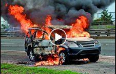 نجات راننده زن موتر آتش 226x145 - ویدیو/ نجات راننده زن از داخل موتر آتش گرفته