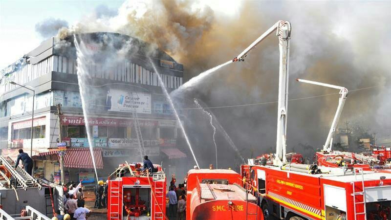 هند آتش - هند؛ دهها متعلم در آتش سوخت