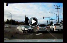 ویدیو برخورد موتر 226x145 - ویدیو/ صحنه ای دردناک از برخورد شدید دو موتر