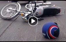 ویدیو تصادف خطرناک موترسایکل سرک 226x145 - ویدیو/ تصادف خطرناک موترسایکل سوار در سرک