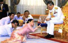 پادشاه تایلند 1 226x145 - تصاویر/ مراسم عجیب ازدواج پادشاه تایلند