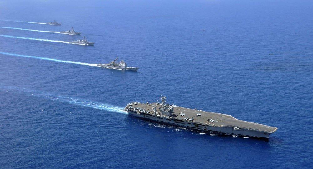 کشتی طیاره بر - تهدید ایران با اعزام کشتی طیارهبر امریکایی در خاور میانه