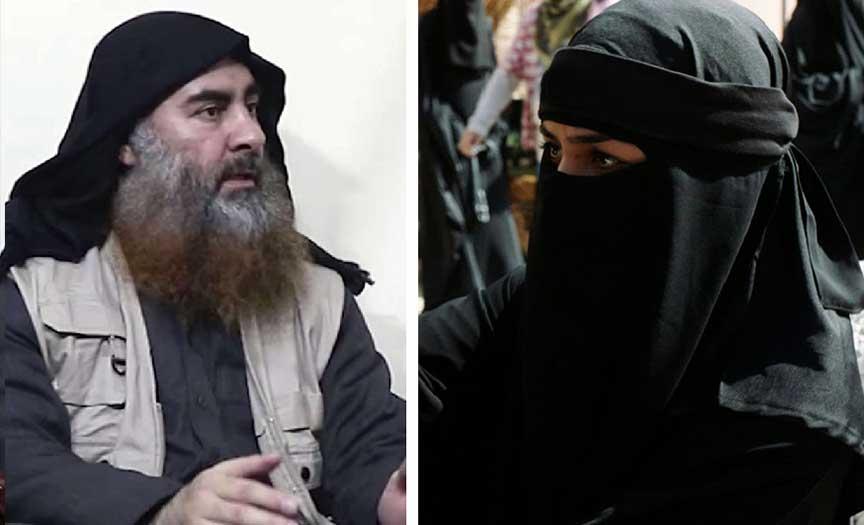 ابوبکرالبغدادی - حرکت انتحاری زن داعشی علیه ابوبکر البغدادی