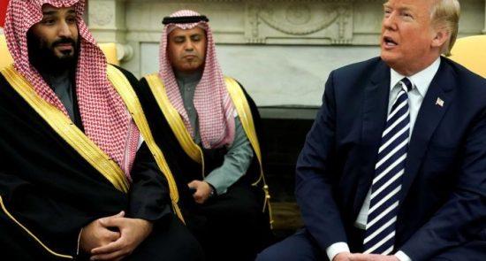 ترمپ بن سلمان 550x295 - قدردانی عجیب ترمپ از عربستان