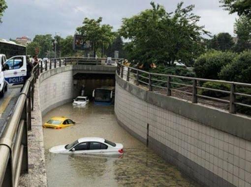 ترکیه باران 2 - خسارات ناشی از بارش شدید باران در ترکیه + تصاویر