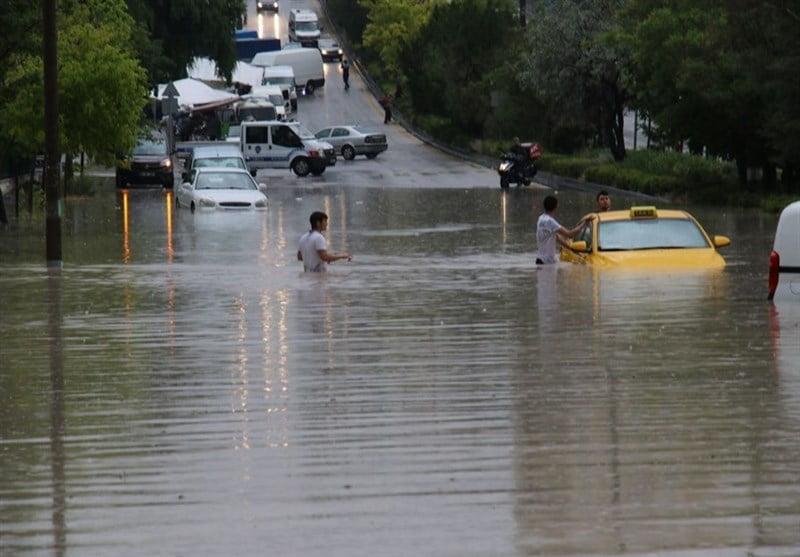 سیل آنکارا - خسارات ناشی از بارش شدید باران در ترکیه + تصاویر