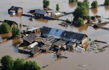سیل روسیه 1 226x145 - تصاویر/ جاری شدن سیلاب ها در مناطقی از روسیه