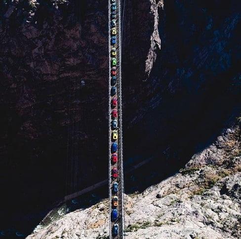 پل امریکا - خطرناک ترین پل معلق در امریکا + تصویر