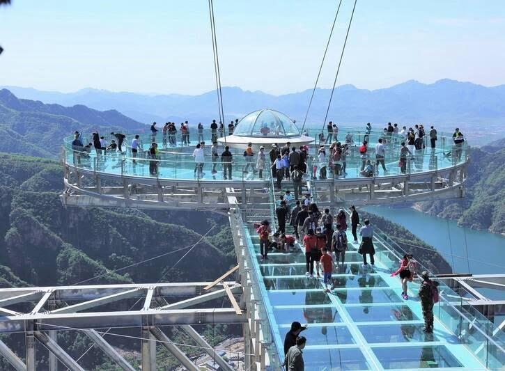 پل شیشه ای6 - تصاویر/ پل جذاب و دیدنی در پکن