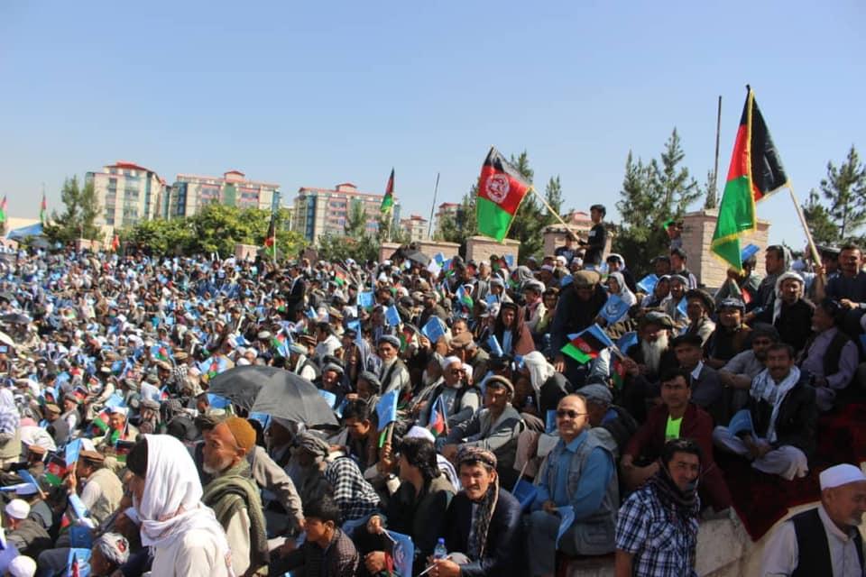 گردهمایی صلح و اعتدال 3 - تصاویر/ گردهمایی بزرگ تیم انتخاباتی صلح و اعتدال در کابل