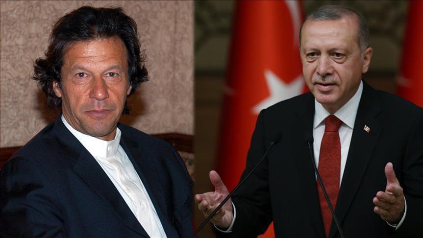 اردوغان عمران خان - بررسی صلح افغانستان در گفتگوی تلیفونی اردوغان با عمران خان