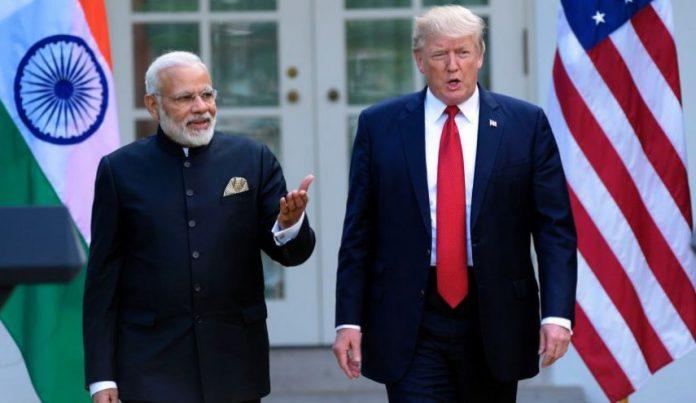 ترمپ مودی - امضای قرارداد سه ملیارد دالری نظامی امریکا با هند