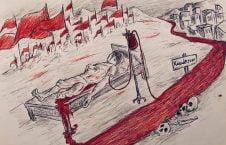 خون 226x145 - کاریکاتور/ دریای کابل از خون کودکان وطن رنگین شده است