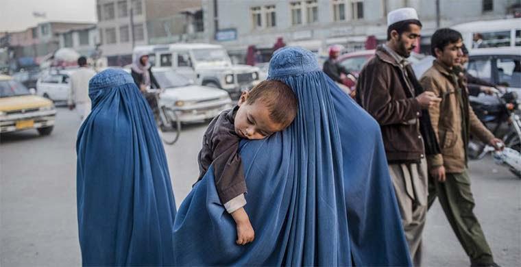 زن 1 - عدم تمایل طبقه اناث به حضور طالبان در حکومت