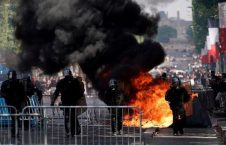 فرانسه تظاهرات3 226x145 - تصاویر/ آشوب در پاریس همزمان با روز استقلال فرانسه