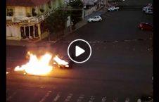 ویدیو آتش موتر موترسایکل سرک 1 226x145 - ویدیو/ آتش گرفتن موتر و موترسایکل در سرک