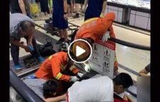 ویدیو دردناک له دست طفل چینایی 226x145 - ویدیو/ صحنه ای دردناک از له شدن دست یک طفل چینایی