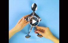 ویدیو مجسمه زیبا قاشق پنجه 226x145 - ویدیو/ ساخت مجسمه ای زیبا با استفاده از قاشق و پنجه