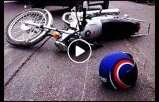 ویدیو نجات معجزه موترسایکل لاری 226x145 - ویدیو/ نجات معجزه آسای یک موترسایکل سوار از زیر لاری