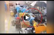 ویدیو گرفتار کارگر دستگاه 226x145 - ویدیو/ گرفتارشدن یک کارگر زیر دستگاه