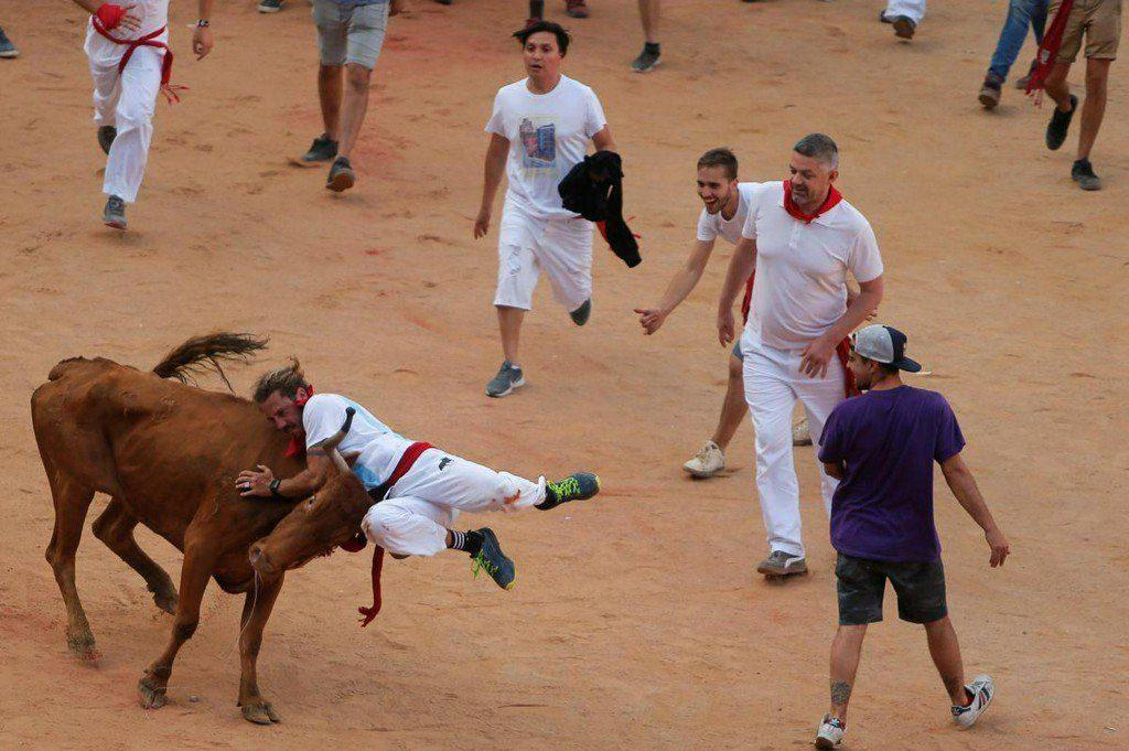 گاوبازی4 1024x681 - تصاویر/ جشنواره خونین گاوبازی در هسپانیا