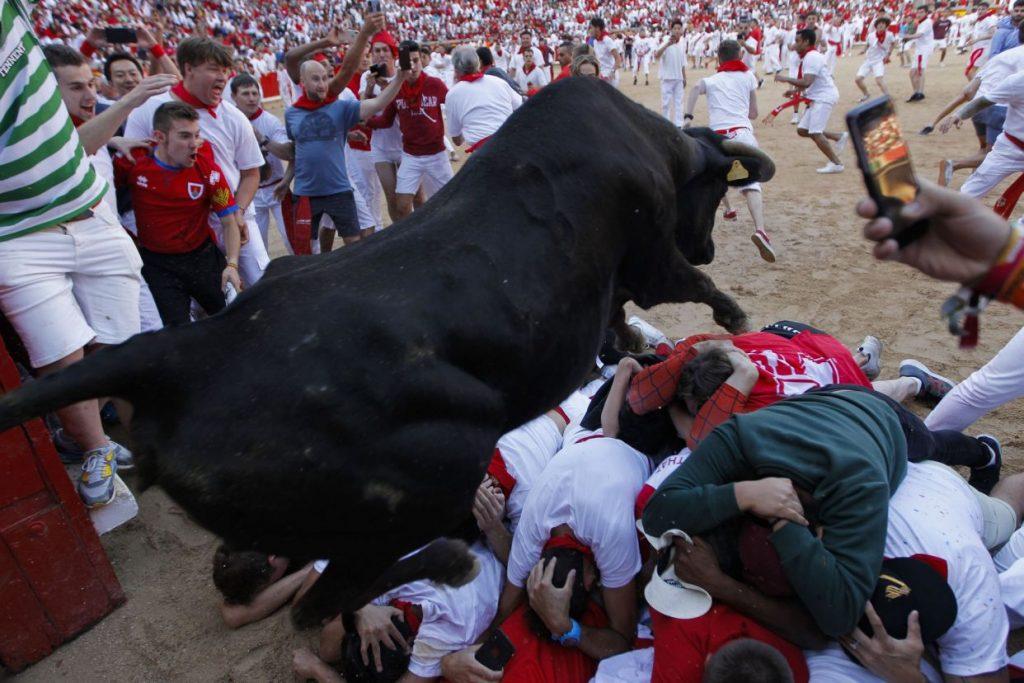 گاوبازی8 1024x683 - تصاویر/ جشنواره خونین گاوبازی در هسپانیا